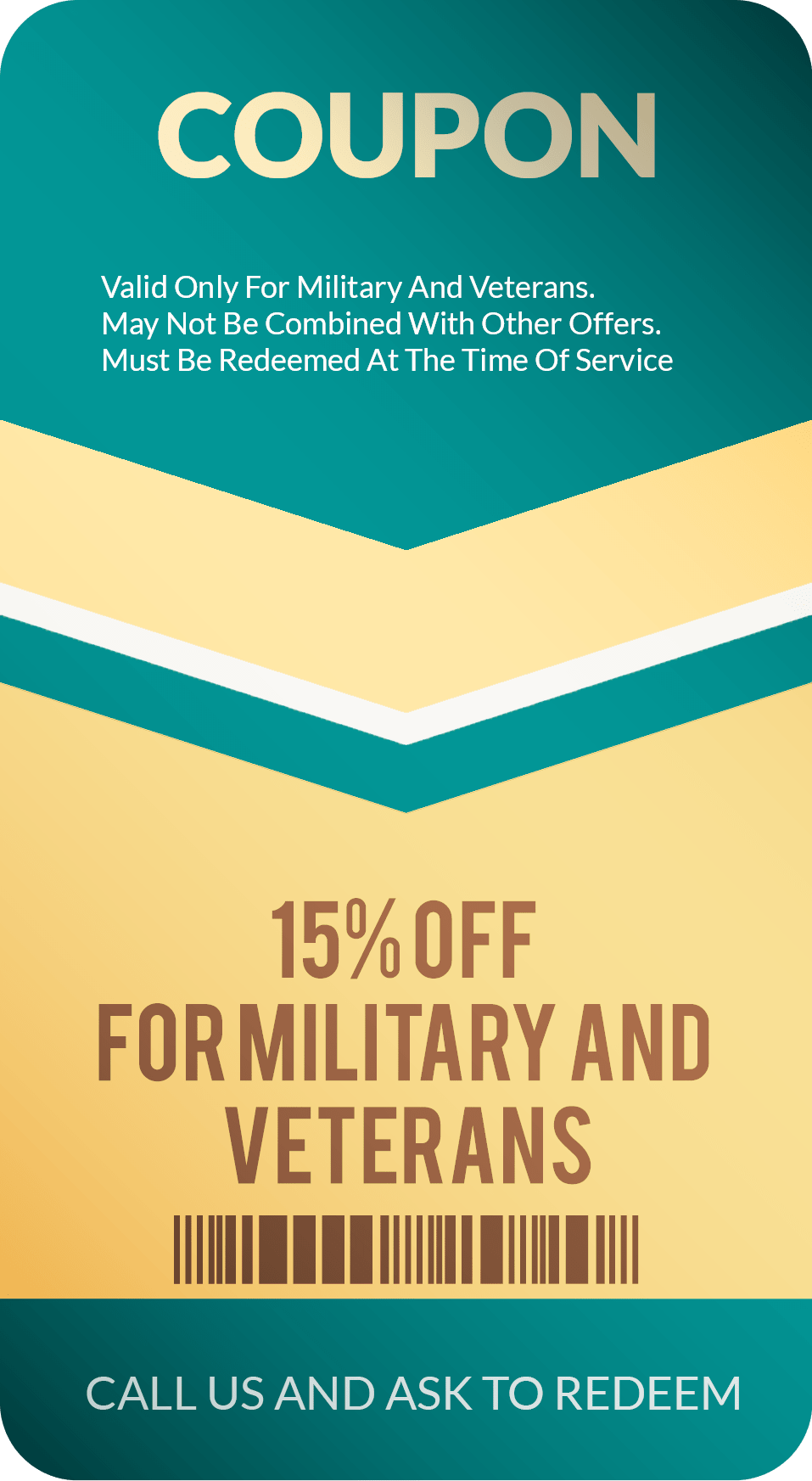 Military & Veterans Garage Door Coupon