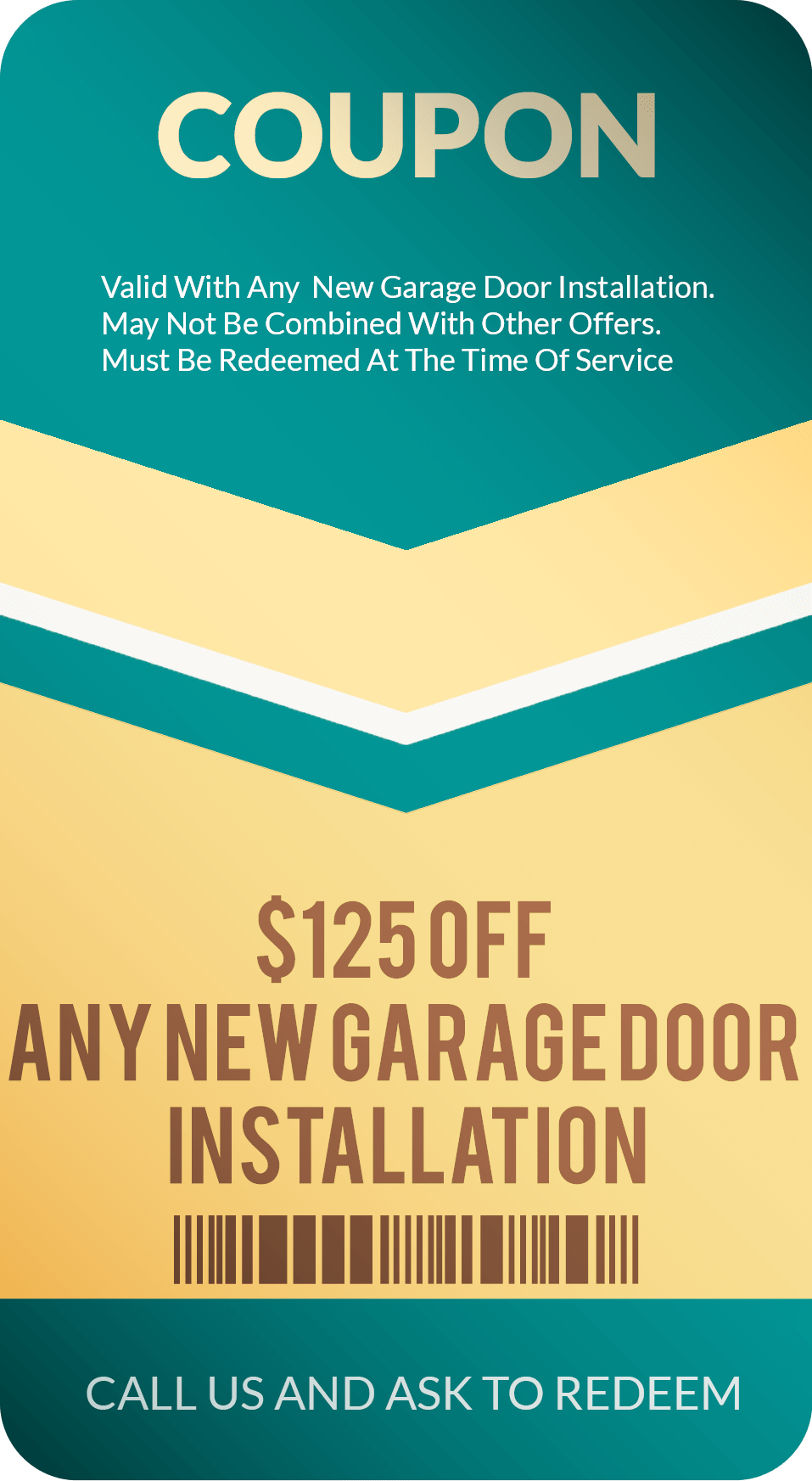 Garage Door Installation Coupon discount