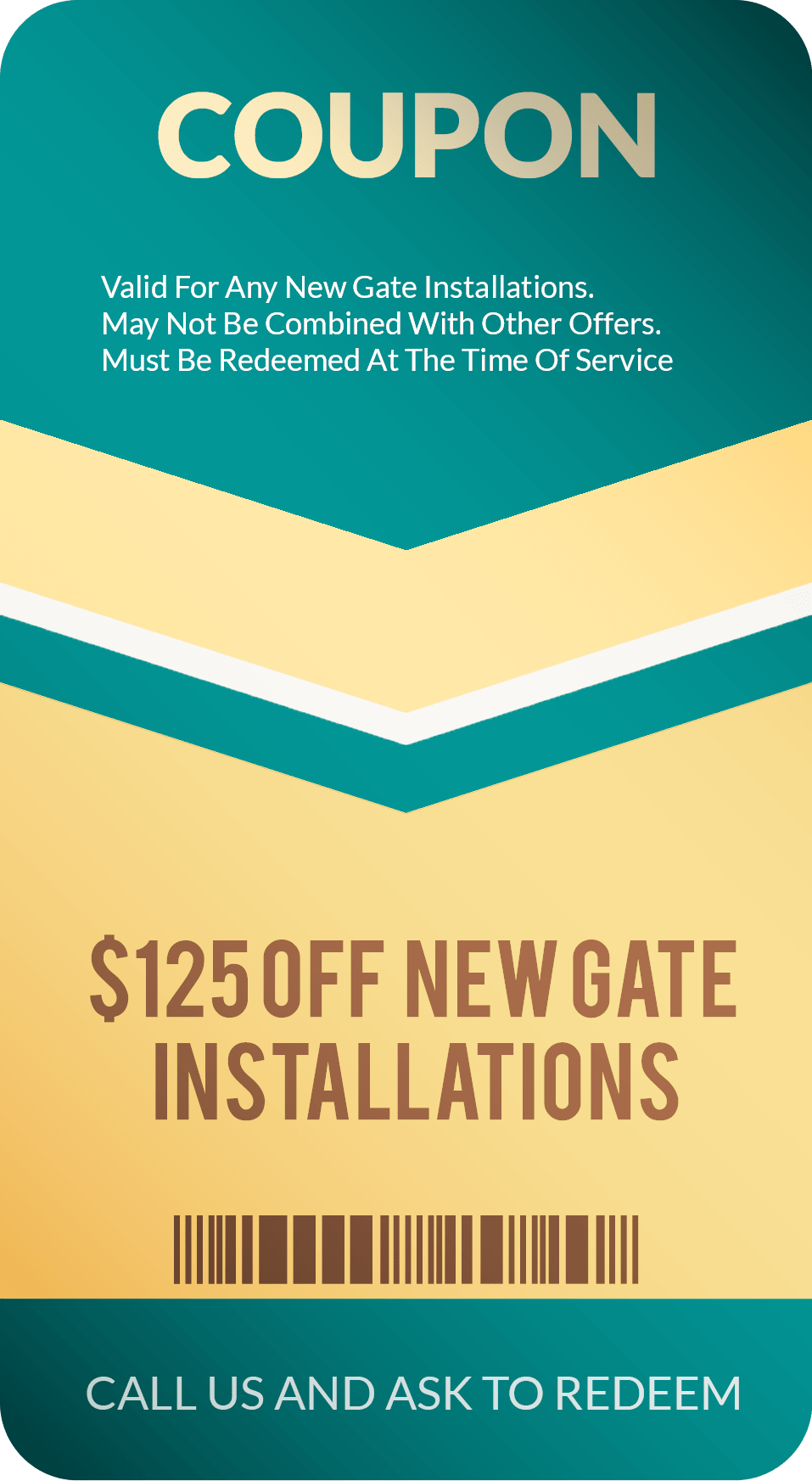 Gate Installation Coupon Discount
