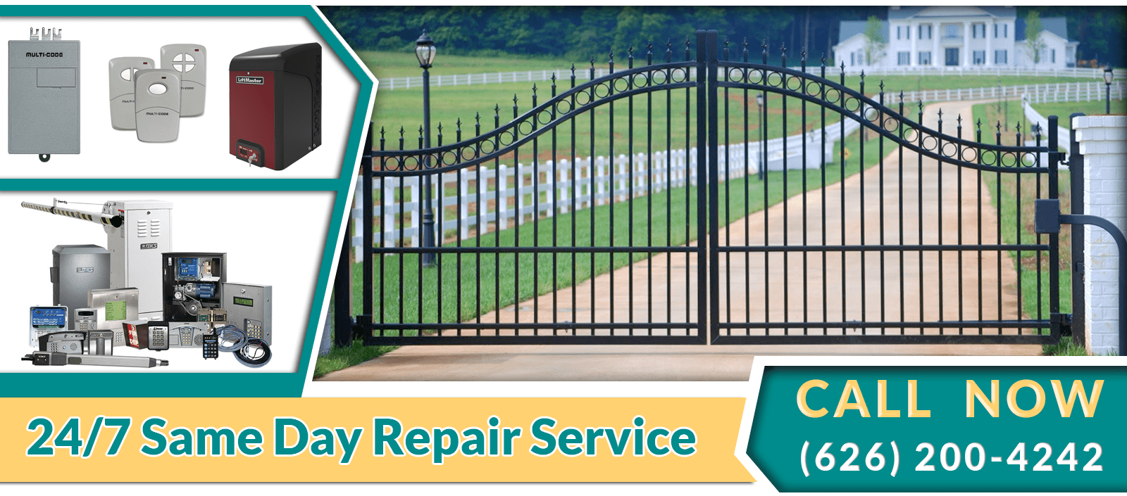Gate repair pasadena asap garage door garage door repair for Garage gate repair