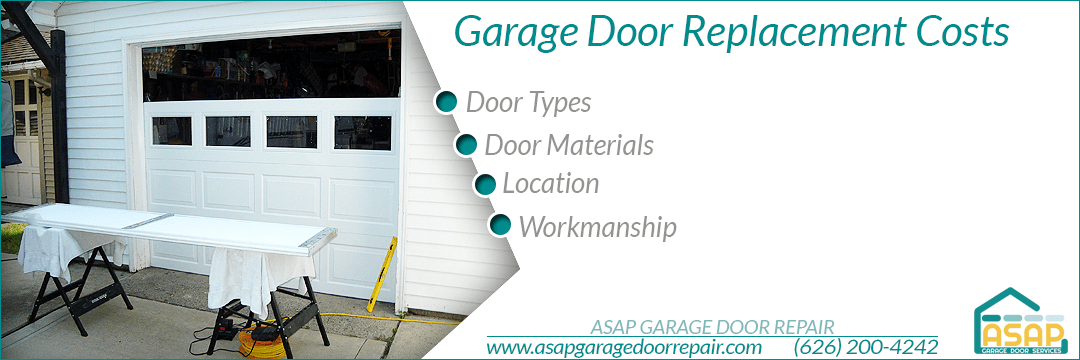 Garage Door Replacement Costs